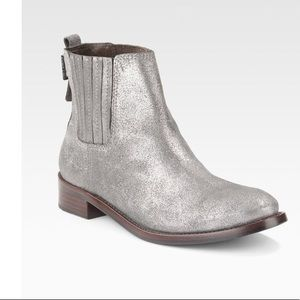 Tory Burch / powder suede Wade ankle booties